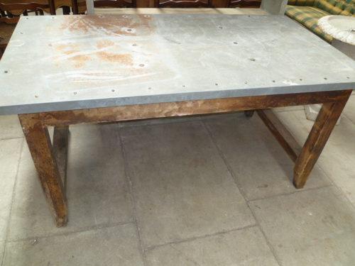 Superior Antique Pine Zinc Top Table ...