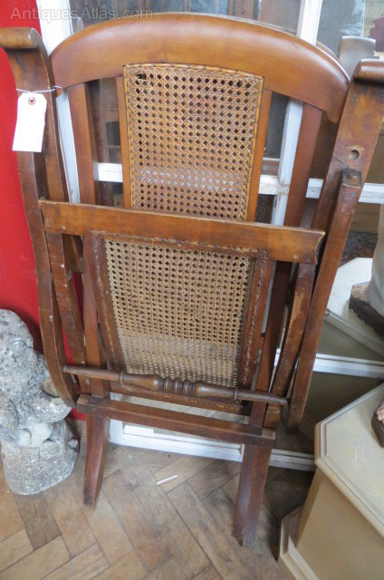 Antique Bergere Folding Steamer Chair Antique Bergere Chairs antique bergre  folding - Antique Bergere Folding Steamer Chair - Antiques Atlas