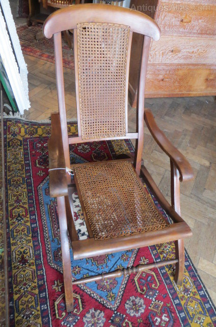 - Antique Bergere Folding Steamer Chair - Antiques Atlas