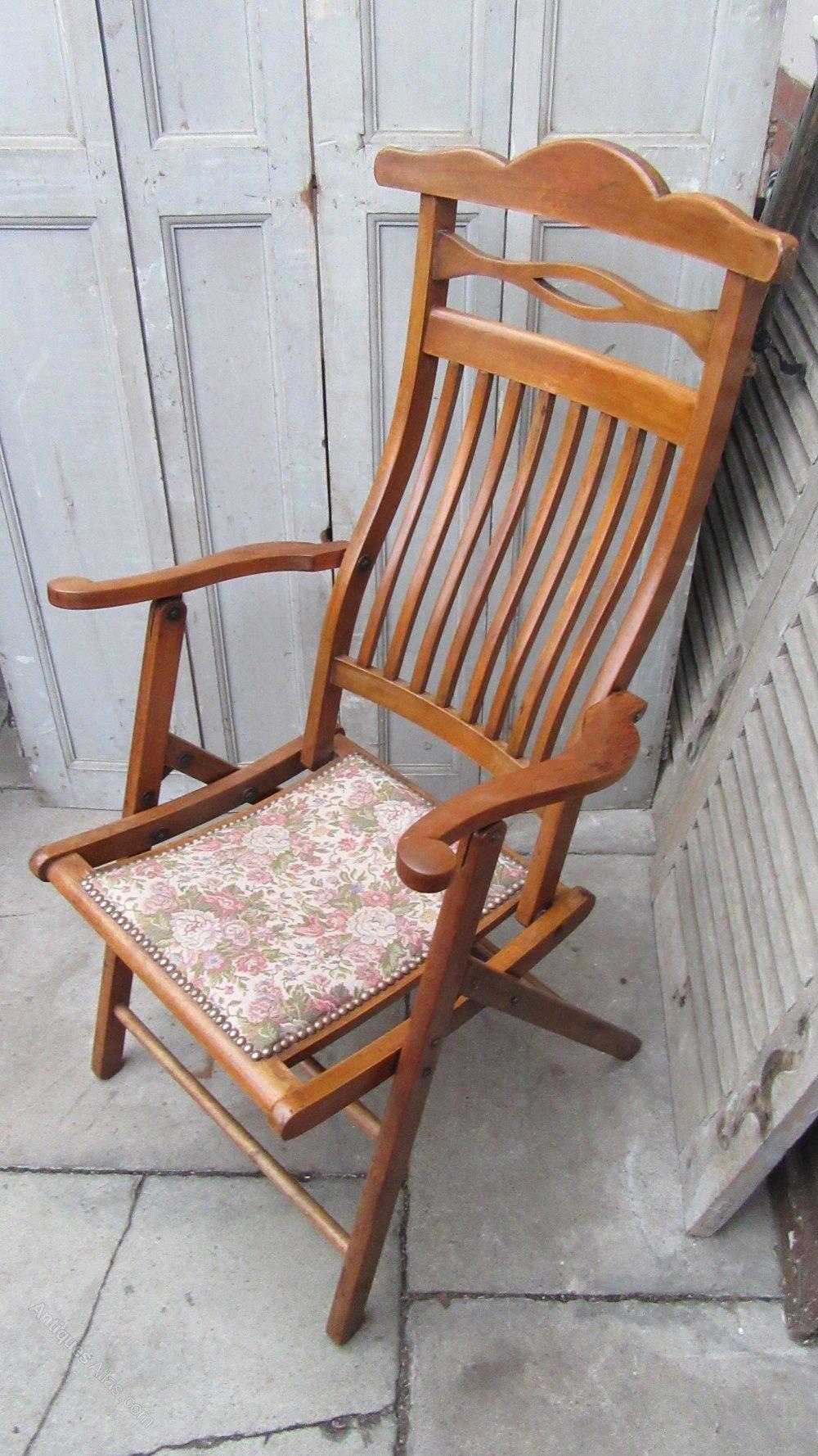 Antique Folding Campaign Chair Antiques Atlas