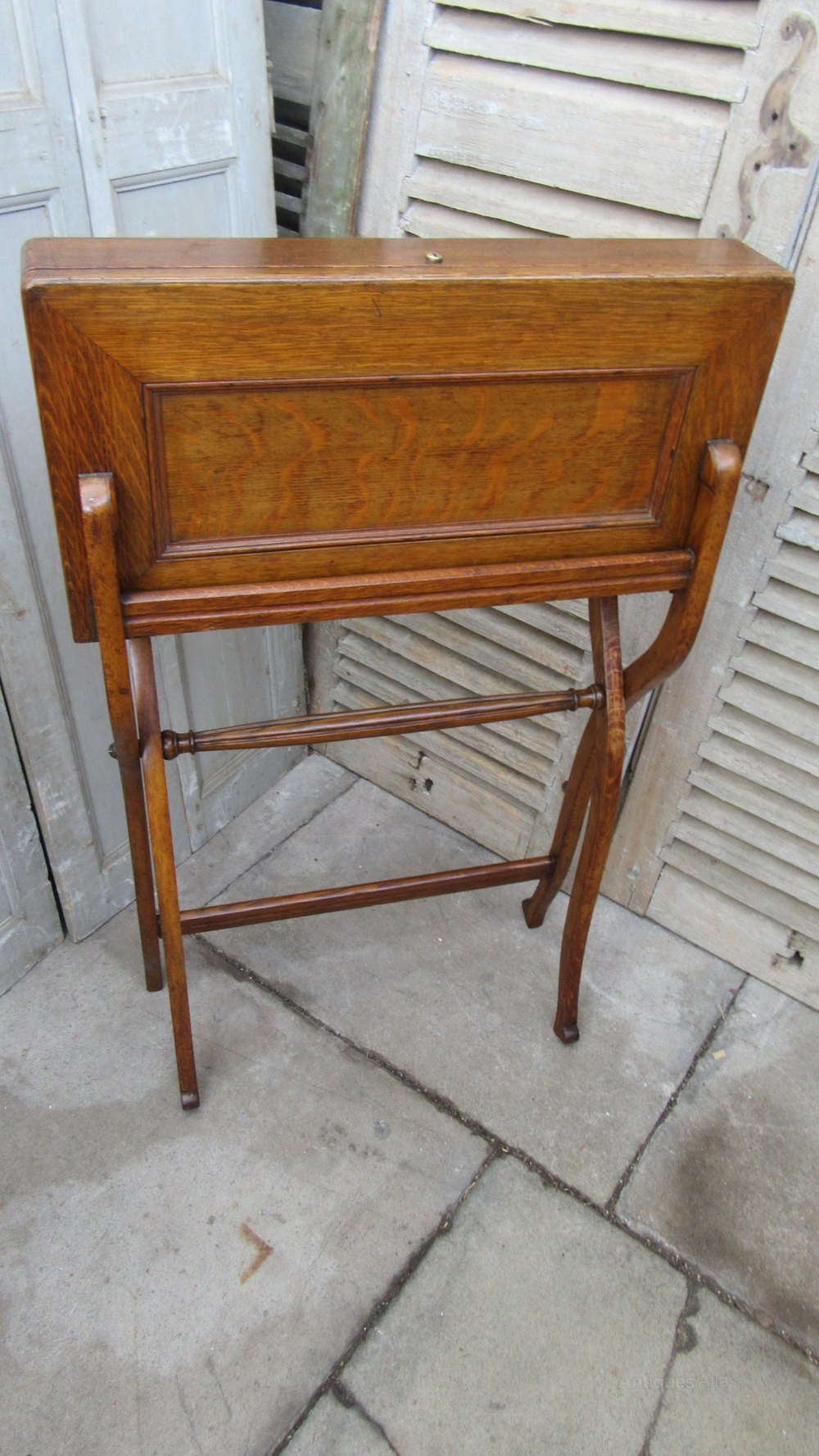 Antique Folding Campaign Table / Desk ... - Antique Folding Campaign Table / Desk - Antiques Atlas