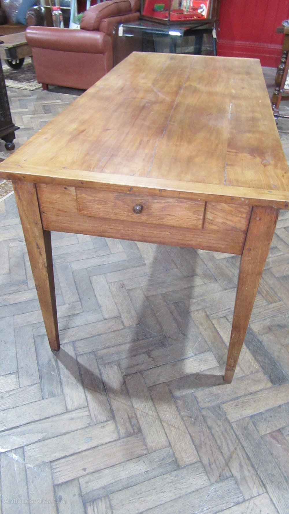 Antique French Cherry Wood Farmhouse Dining Table