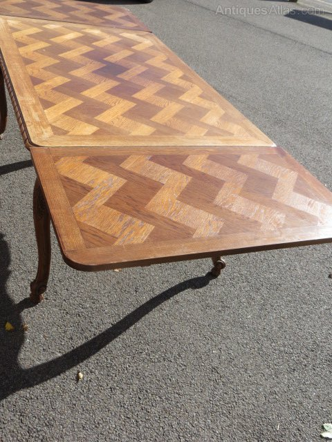 Antique French Oak Draw Leaf Dining Table Antiques Atlas