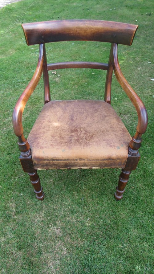 Miraculous Antique Georgian Mahogany Desk Chair Antiques Atlas Machost Co Dining Chair Design Ideas Machostcouk