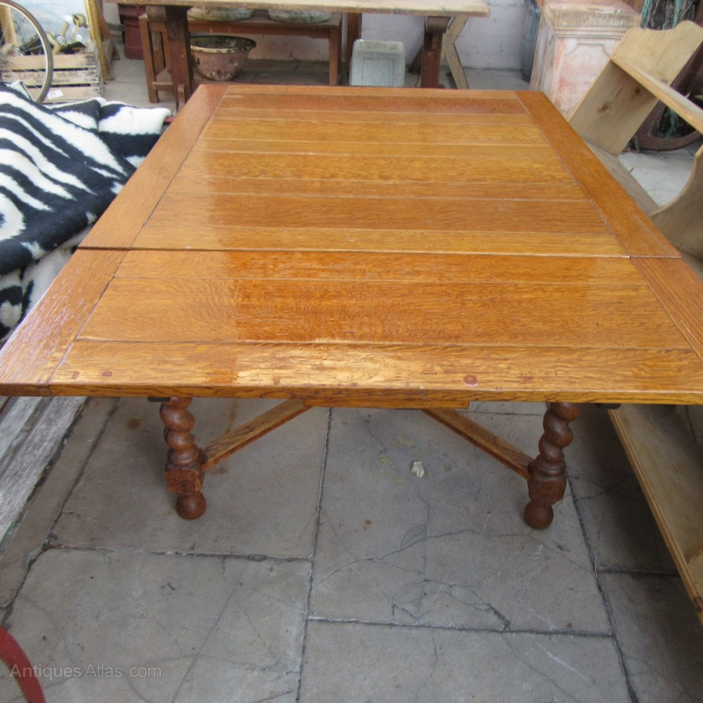 Antique Oak Draw Leaf Table Antique Draw Leaf Tables ...