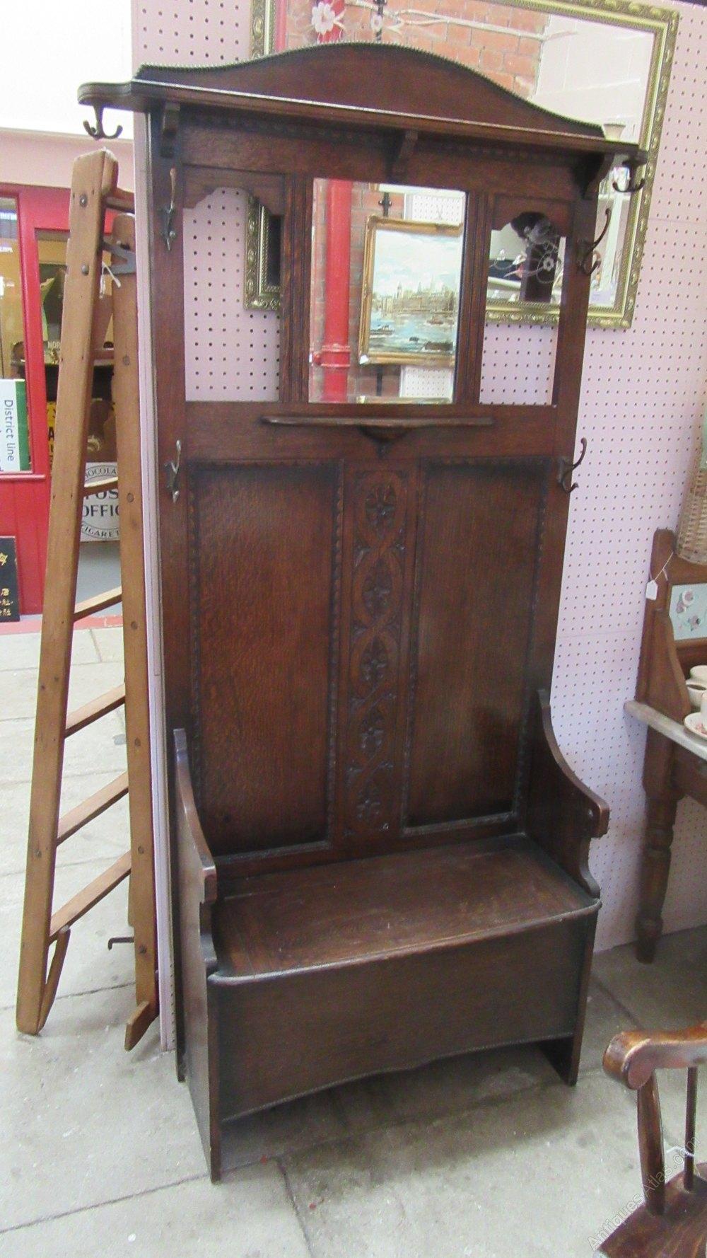 Antique Oak Hall Stand Antiques Atlas