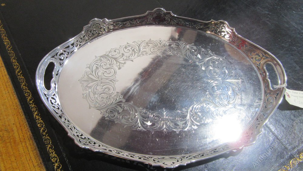 Antique Silver Plated Tray by Alexander Clark ... & Antiques Atlas - Antique Silver Plated Tray By Alexander Clark