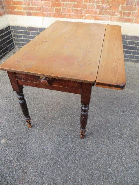 Antique Victorian Pine Drop Leaf Table Antiques Atlas