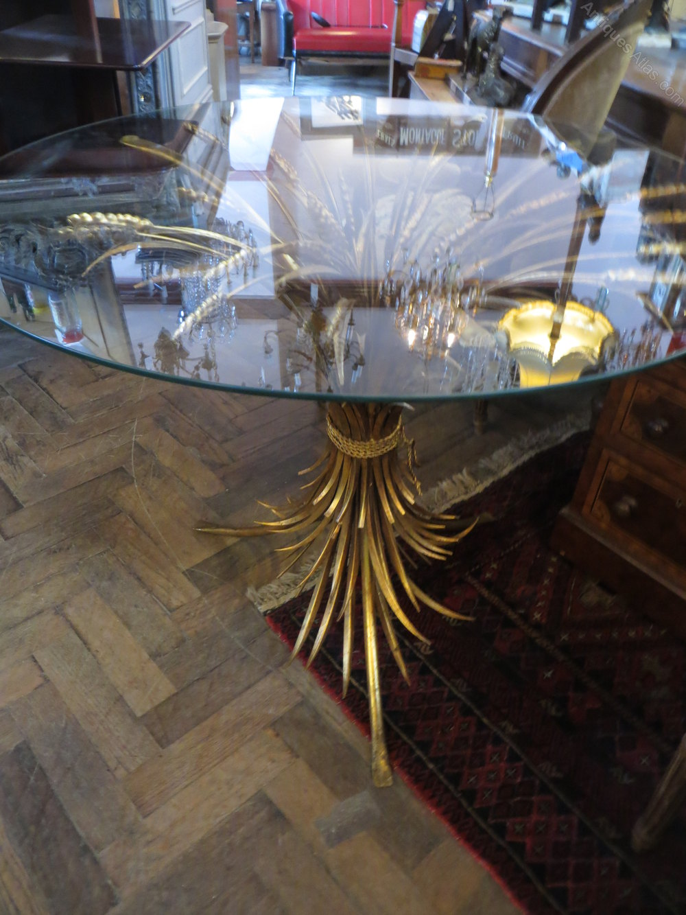 Mid century wheat sheaf coffee table irish antique dealers - Decorative French Wheatsheaf Table