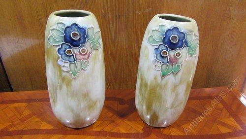 Antiques Atlas Pair Of Antique Royal Doulton Vases