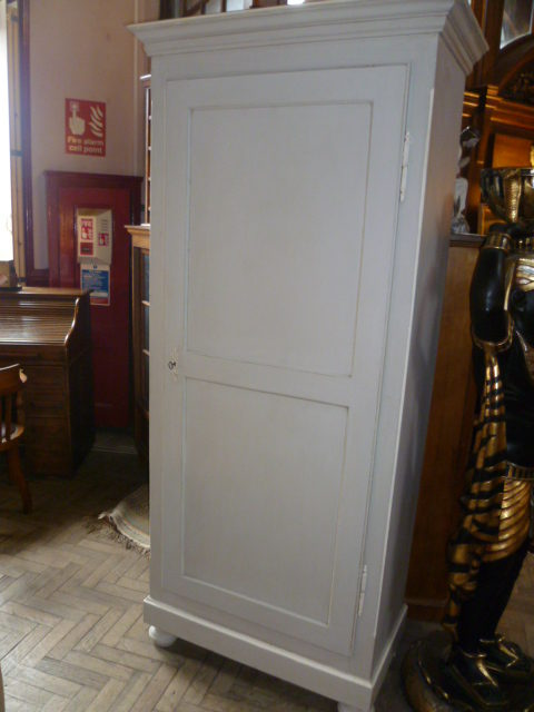 Tall Painted Antique Cupboard Antique Cupboards - TALL PAINTED ANTIQUE CUPBOARD - Antiques Atlas