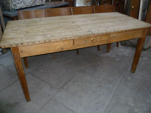 Genial Victorian Antique Pine Scrub Top Dining Table ...