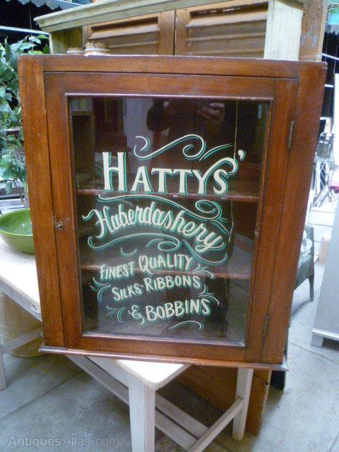 Vintage Haberdashery Wall Cupboard ... - Vintage Haberdashery Wall Cupboard - Antiques Atlas