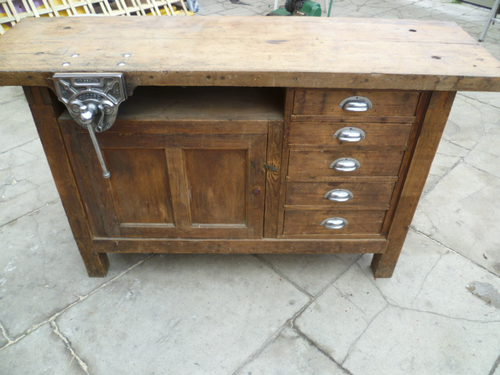 Antiques Atlas Vintage Industrial Workbench