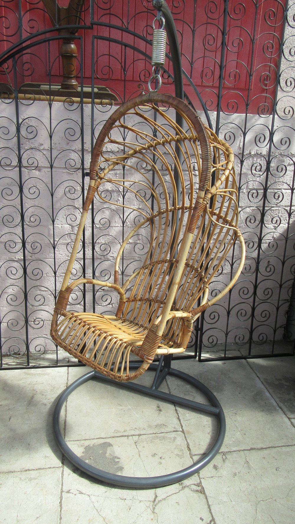 Vintage 1970s Bamboo Hanging Chair ...