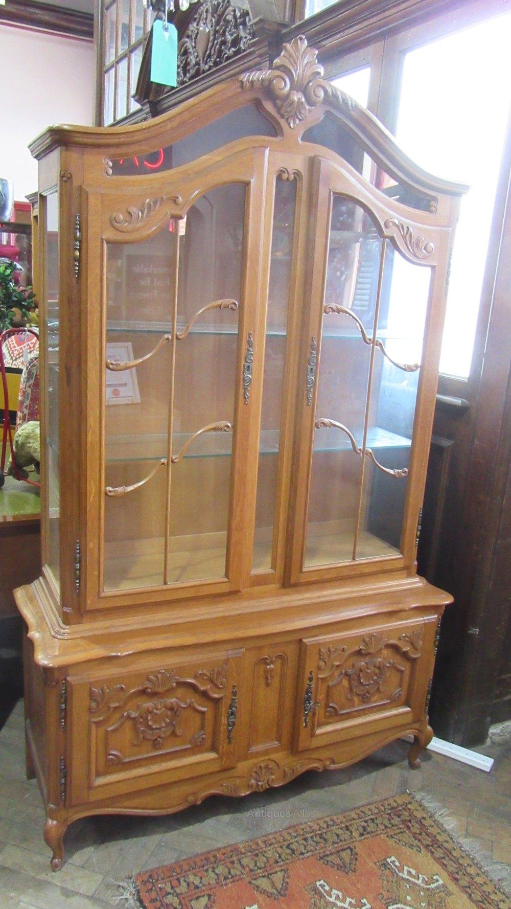 antiques atlas vintage french oak vitrine. Black Bedroom Furniture Sets. Home Design Ideas