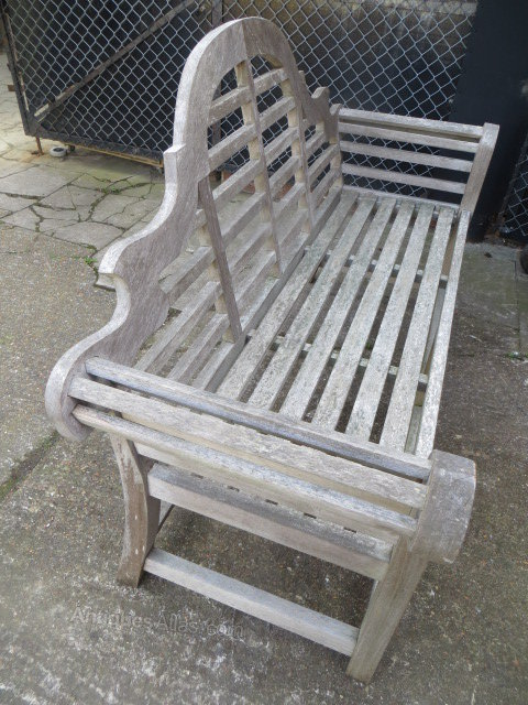 Vintage Weathered Teak Lutyens Garden Bench / Seat Antique Garden Benches  ...