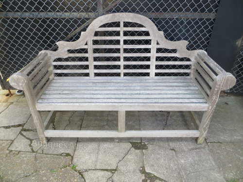 Antiques Atlas Vintage Weathered Teak Lutyens Garden Bench