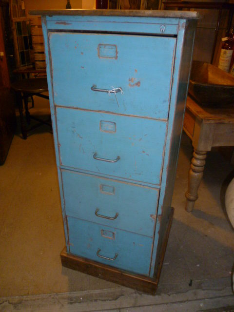 Antiques Atlas Vintage Painted Wooden Filing Cabinet