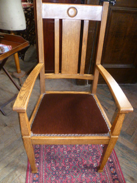 Antique Oak Arts & Crafts Chair - Antique Oak Chair Antique Furniture
