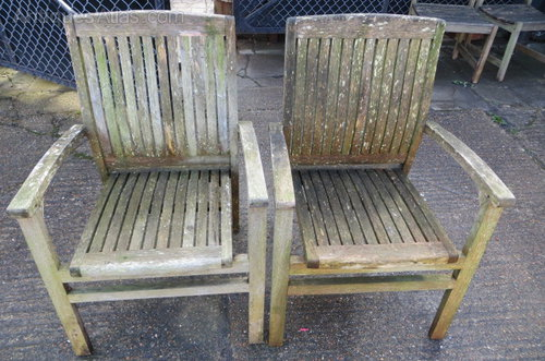 Antiques Atlas Pair Of Good Quality Vintage Teak Garden Chairs