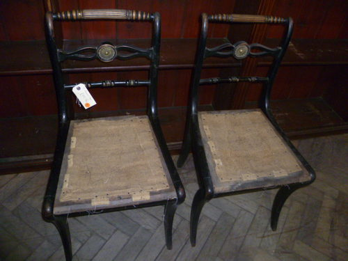 Pair Of Antique Regency Dining Chairs