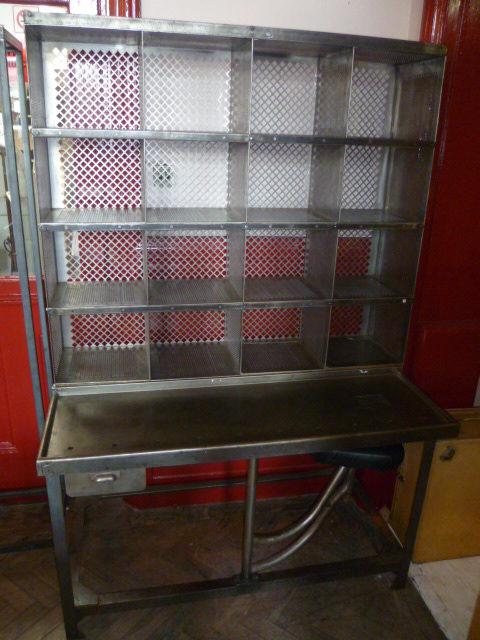Vintage Polished Steel Post Office Sorting Desk ... - Antiques Atlas - Vintage Polished Steel Post Office Sorting Desk