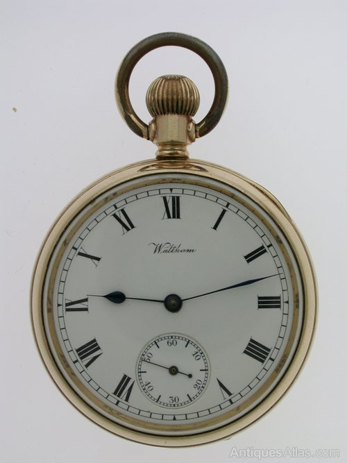 3c21892bc Antiques Atlas - Gold Filled Waltham Open Face Pocket Watch