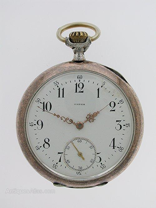 624de5d30 Antiques Atlas - Omega Silver 0.800 Open Face Gent's Pocket Watch