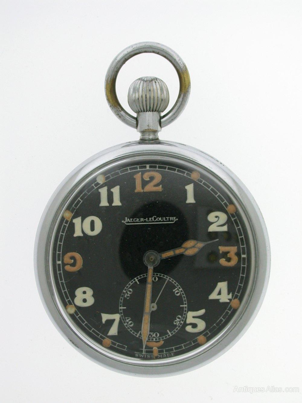 0ed2d61d0 Antiques Atlas - Original Jaeger LeCoultre Military Pocket Watch