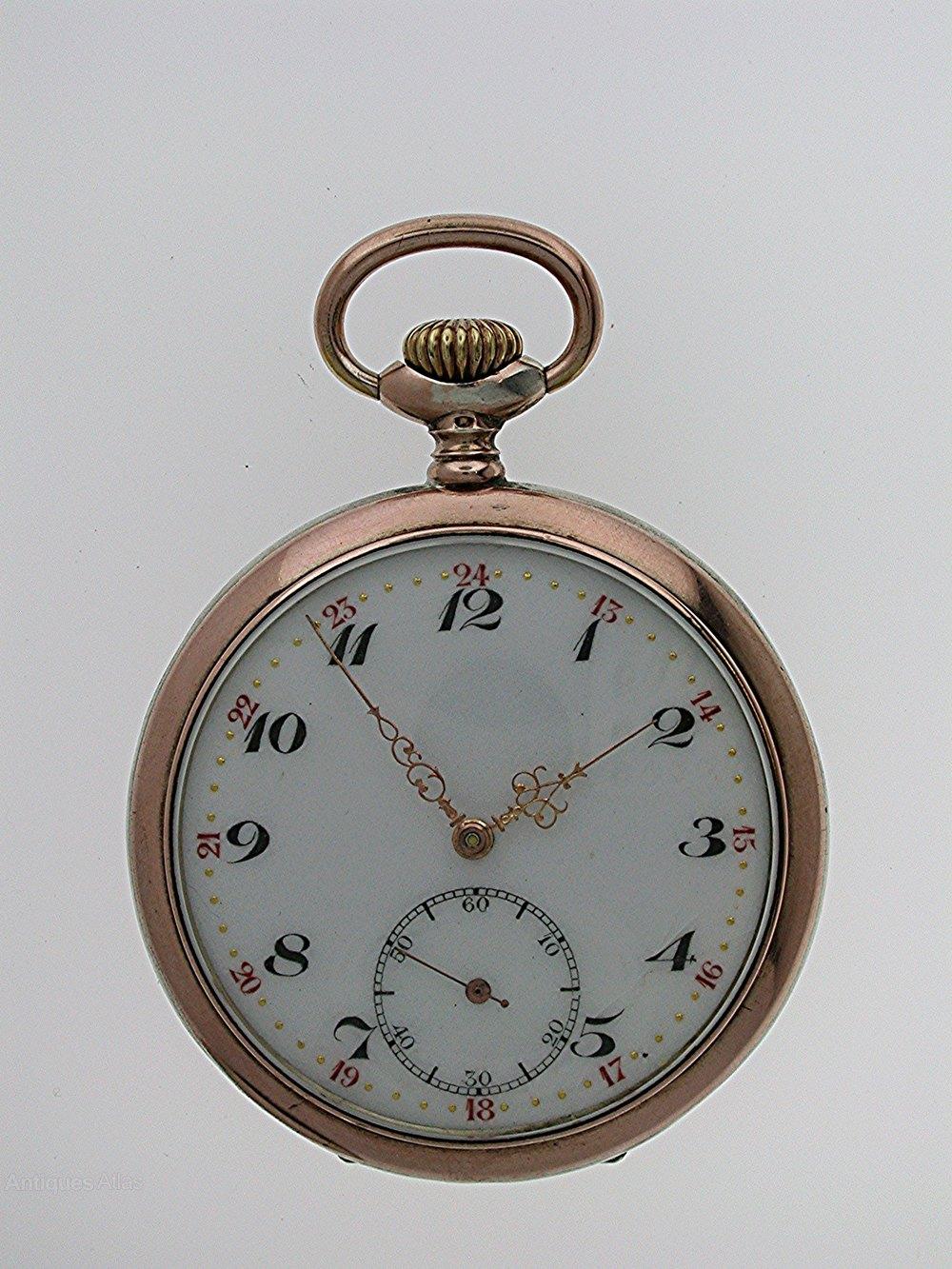 d7fbe2a78 Antiques Atlas - Silver 0.800 Open Face Pocket Watch Swiss 1920