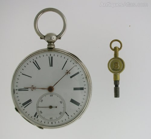 Antiques Atlas - Silver Cylinder Open Face Pocket Watch