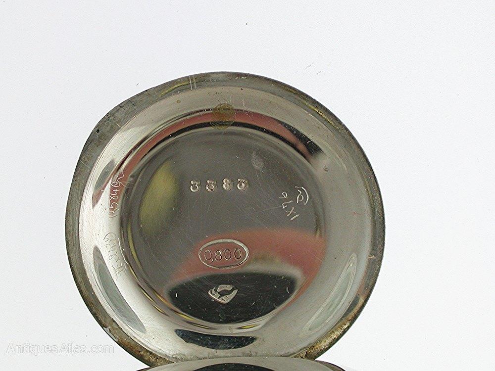 6820e6f2c Photos. Unique Silver 0.800 Open Face FOB Pocket Watch LeCoultre Antique ...