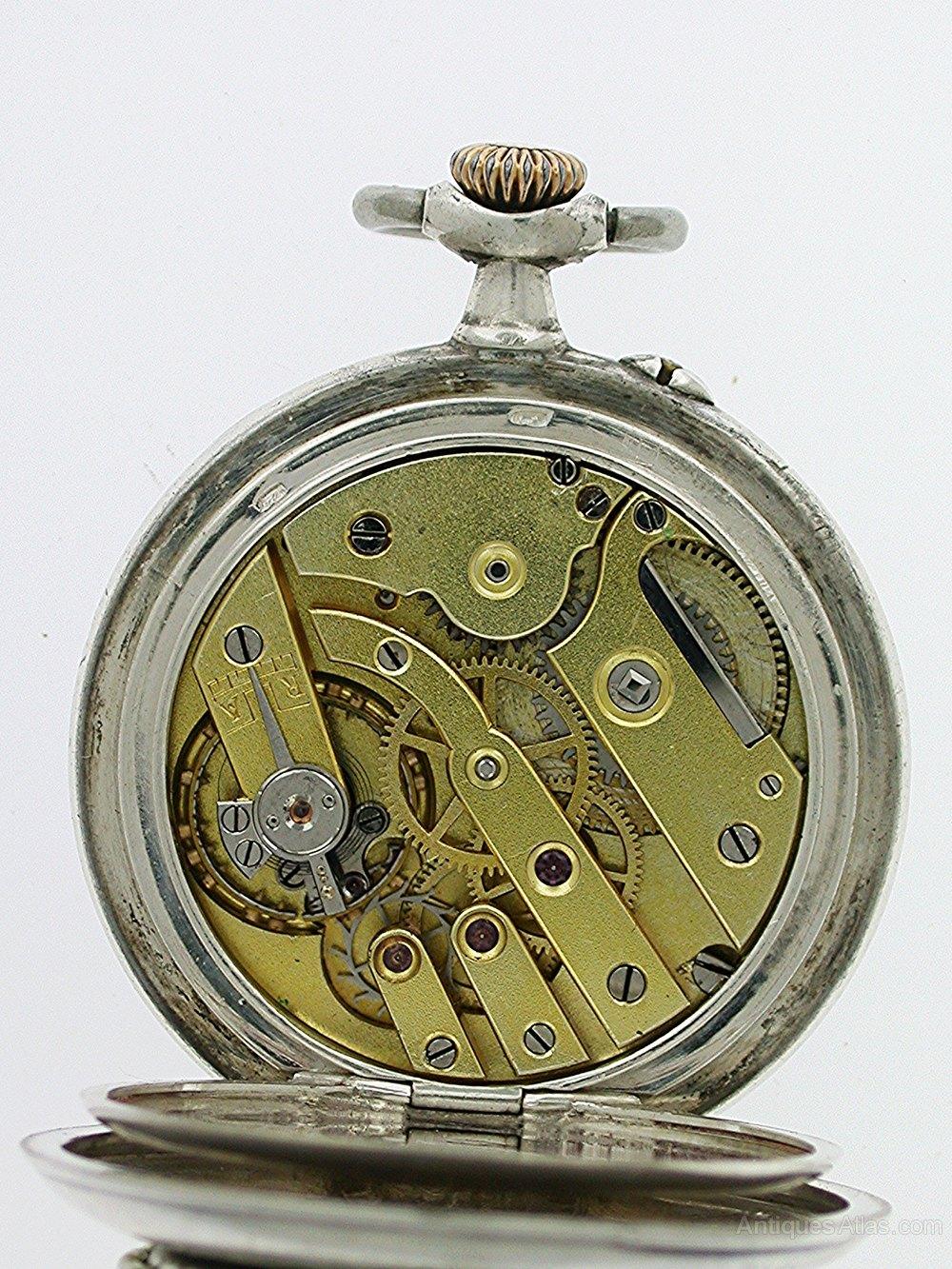 c5be88e56 Unique Silver 0.800 Open Face FOB Pocket Watch LeCoultre Antique and  Vintage Pocket Watches %%alt5%% ...