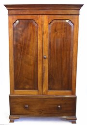 Armoires/wardrobes The Cheapest Price Edwardian Bowfront 2 Door Oak Wardrobe With Key Antique Furniture