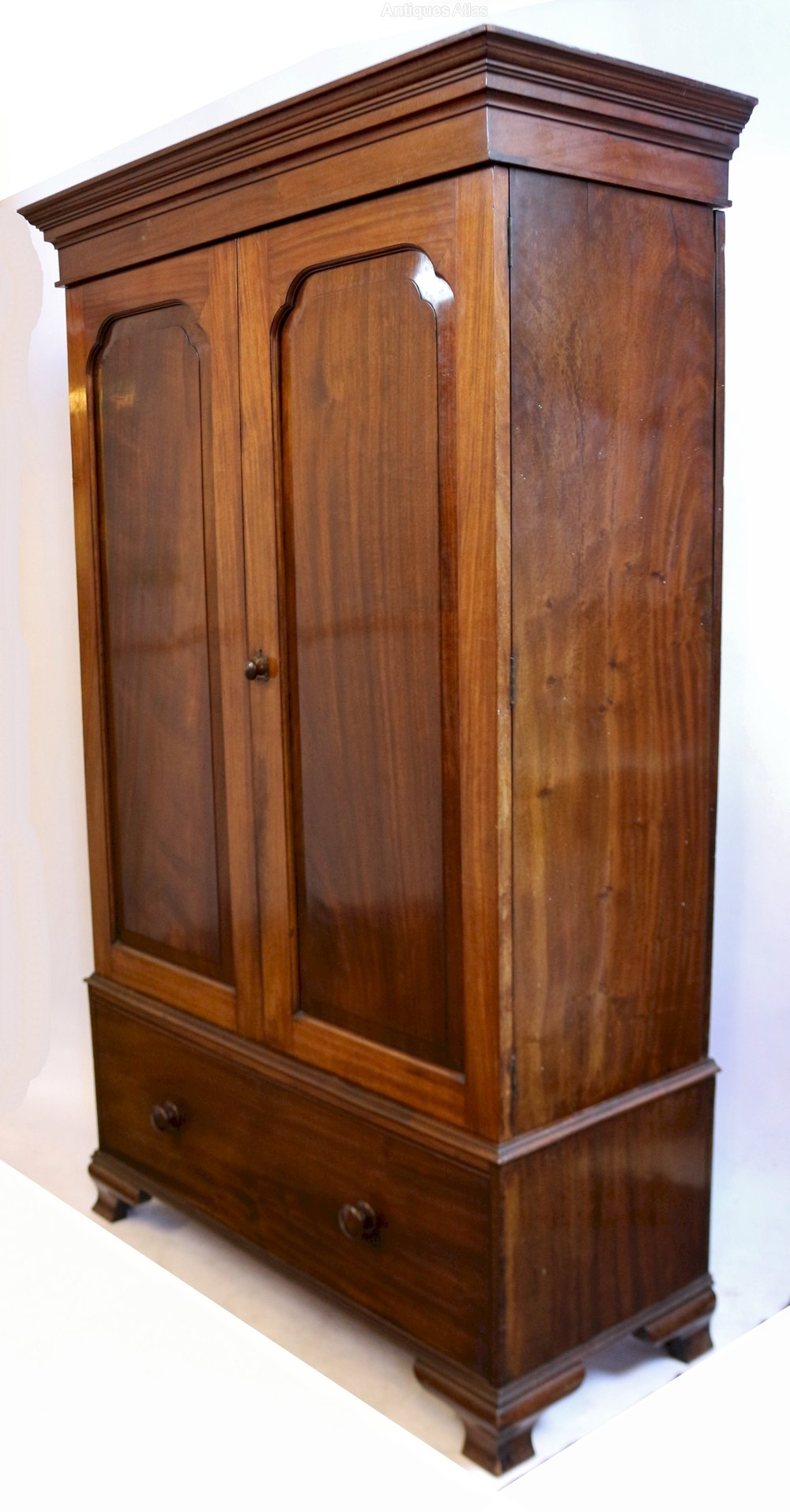 Antiques Edwardian Satinwood And Birdseye Maple Wardrobe Armoires/wardrobes