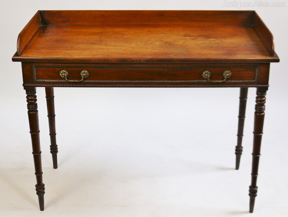 George 1v mahogany 1 drawer side table antiques atlas for 1 drawer table