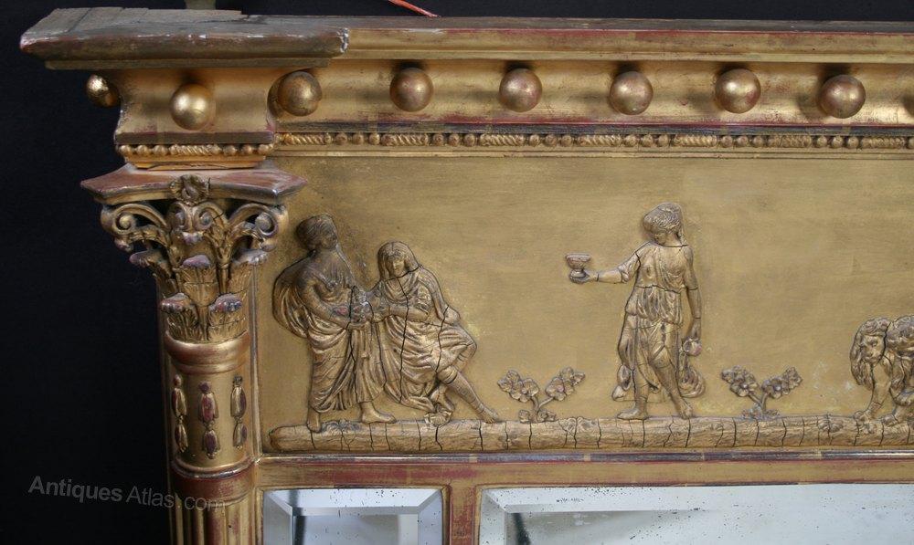 Antiques Atlas Regency Gilt Triple Plate Wall Mirror