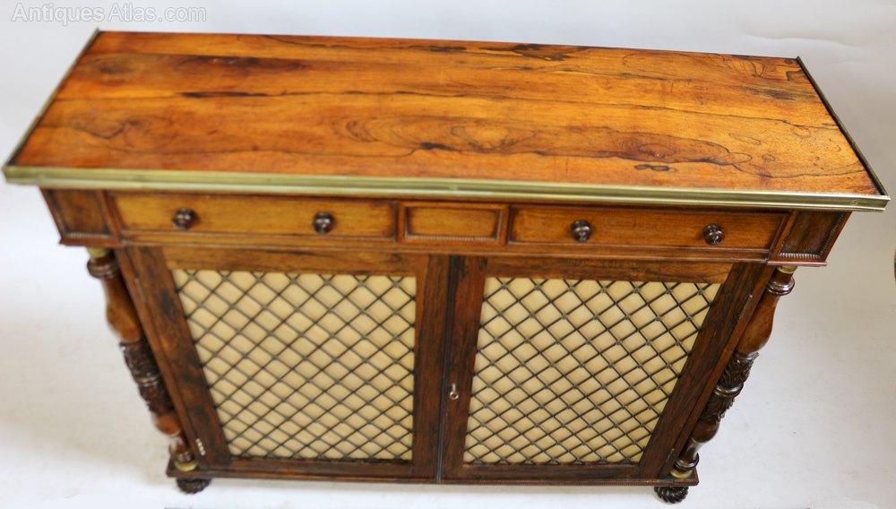 Regency Rosewood 2 Door Side Cabinet Antiques Atlas