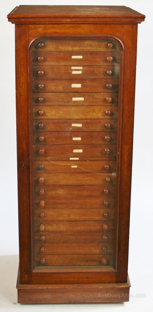 victorian mahogany specimen cabinetj.t.crocket - antiques atlas