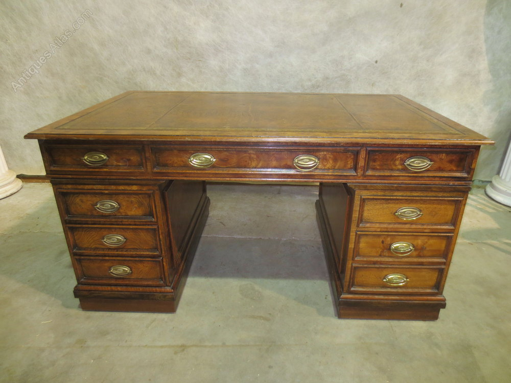 Partners Desks 1950s Burr Walnut Alt5