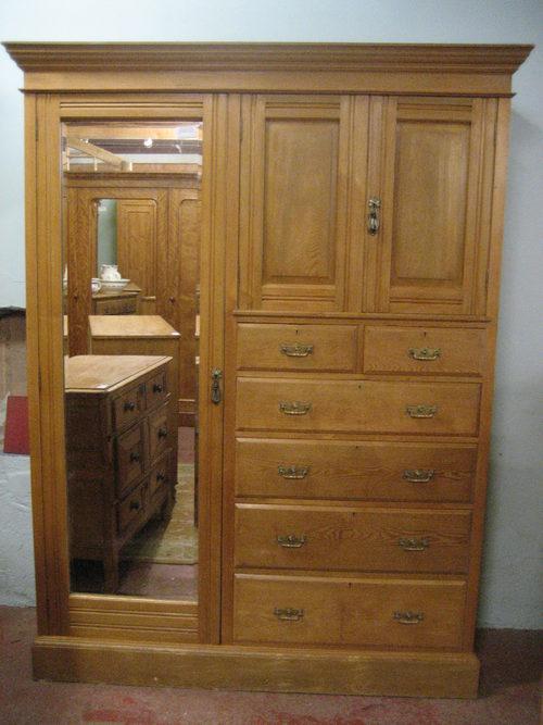 Edwardian Ash Combination Wardrobe Antiques Atlas