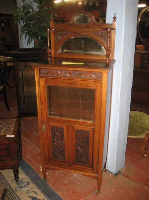 Edwardian Mahogany Music Cabinet - Edwardian Mahogany Music Cabinet - Antiques Atlas