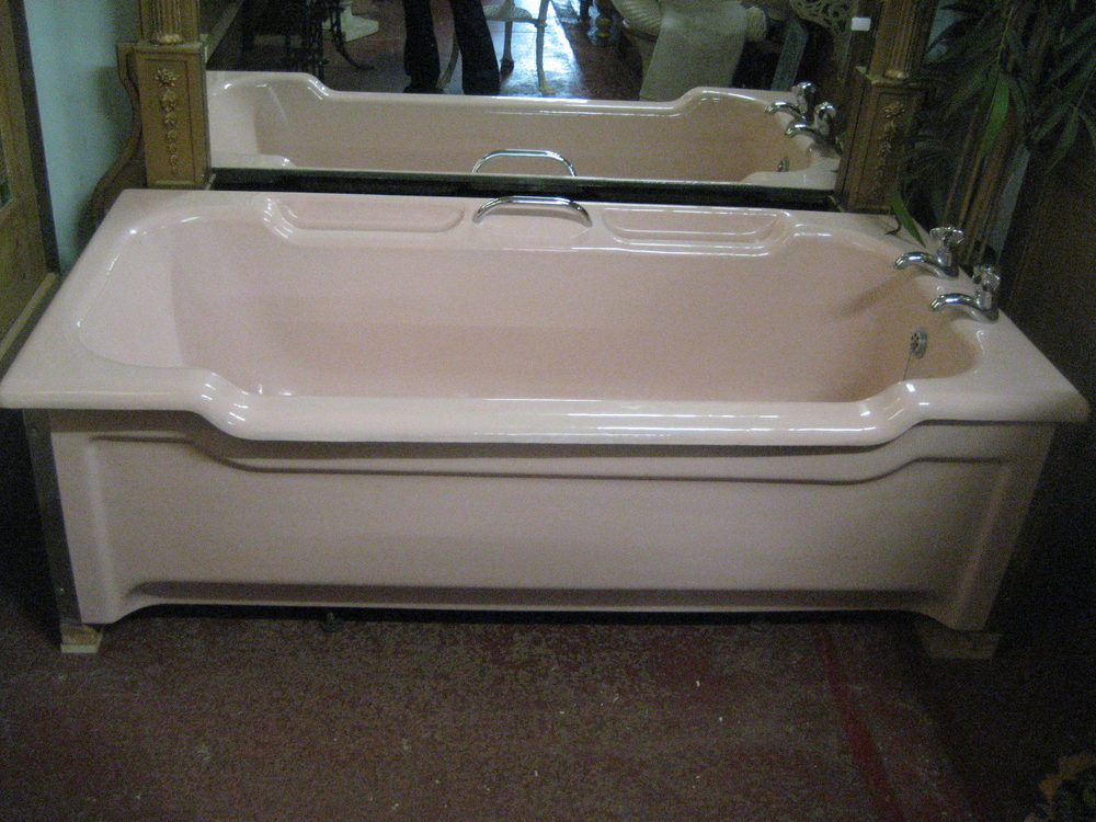 Antiques Atlas - Pink Enamel Bath