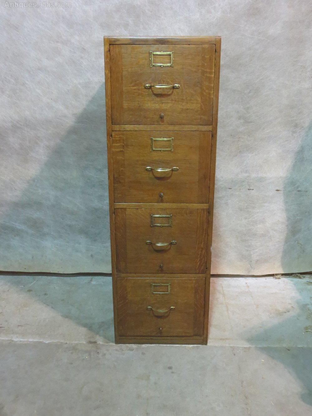Pair of Oak Filing Cabinets Antique Filing Cabinets ... - Pair Of Oak Filing Cabinets - Antiques Atlas