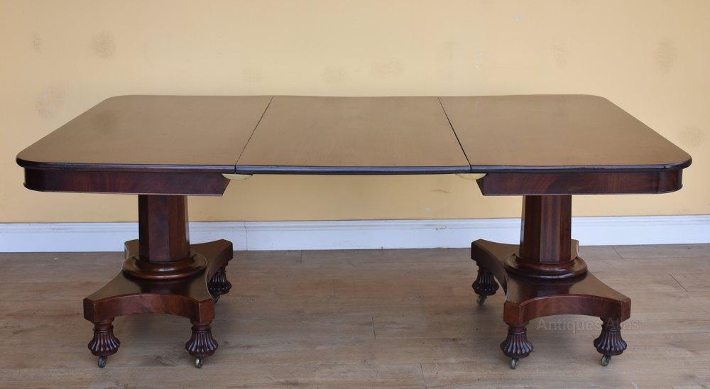 19th Century Regency Mahogany Dining Table