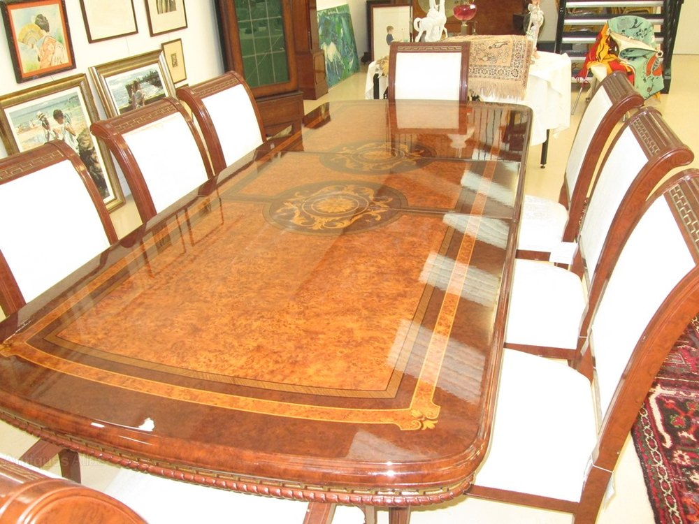 20th Century Birds Eye Maple Dining Table U0026 Chairs