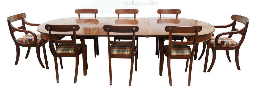 George Iii D End Dining Table 8 Georgian Chairs Antiques Atlas