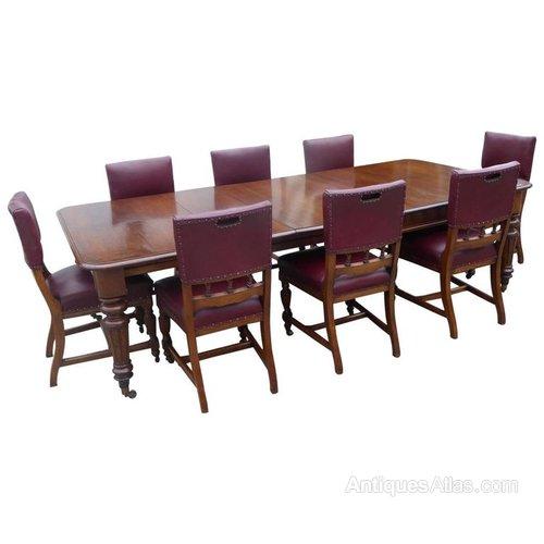Pleasant Large Victorian Oak Extending Table 8 Chairs Inzonedesignstudio Interior Chair Design Inzonedesignstudiocom