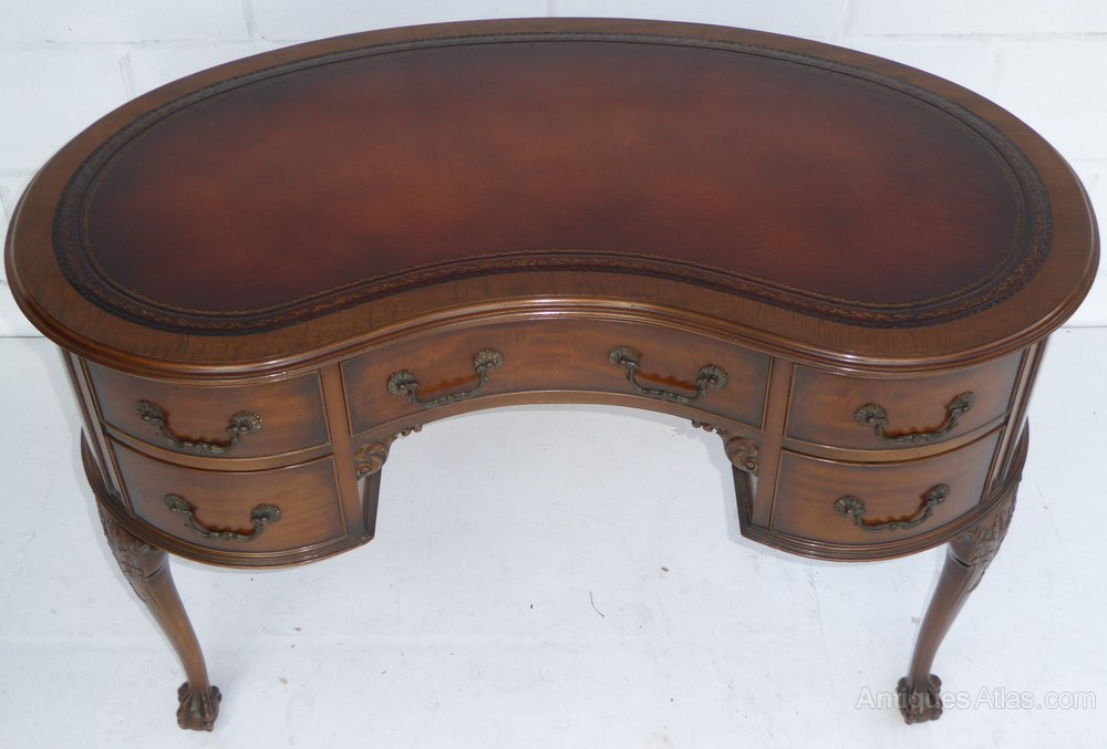 Gany Kidney Shaped Desk By Waring Gillows Antique Writing Desks